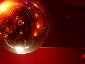 Disco ball spinning