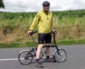 Chris Maiden on his Brompton bike
