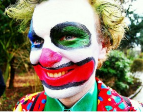 Conor McGinley playing the clown in Levi's Genes video