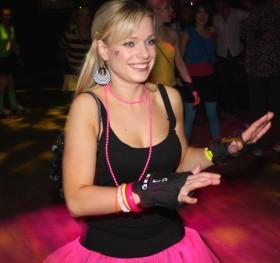 Girl enjoying previous Superfunk Roller Disco