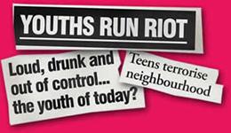 Youths Run Riot