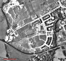 Aerial view of Cottam Hall Brickworks