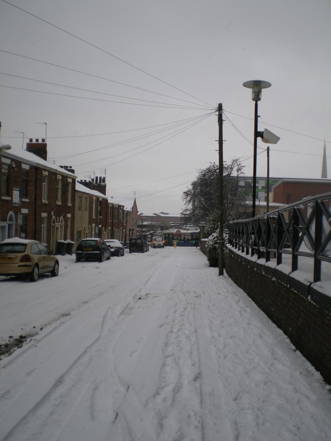 Snowfall in Preston