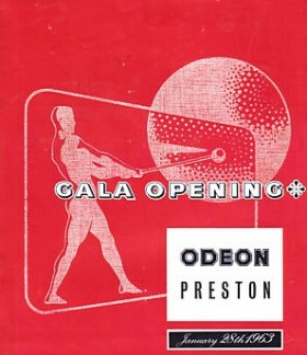 Celebrating the opening night of the Odeon Cinema