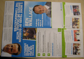 Ben Wallace election leaflet uploaded to The Straight Choice