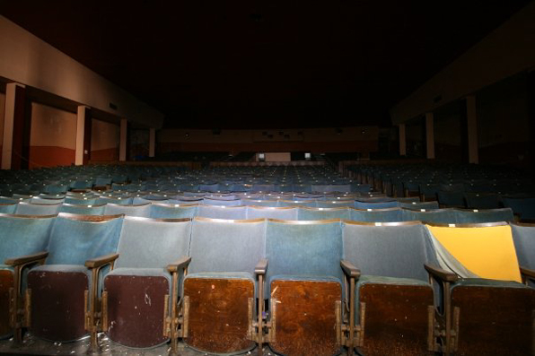 empty seats in the new victoria cinema