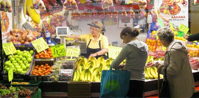 Preston's Indoor Market has many stalls selling fresh fruit and vegetables