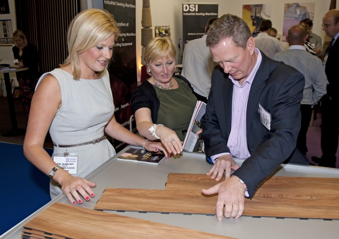 Rachel at the Harrogate Flooring Show earlier this year