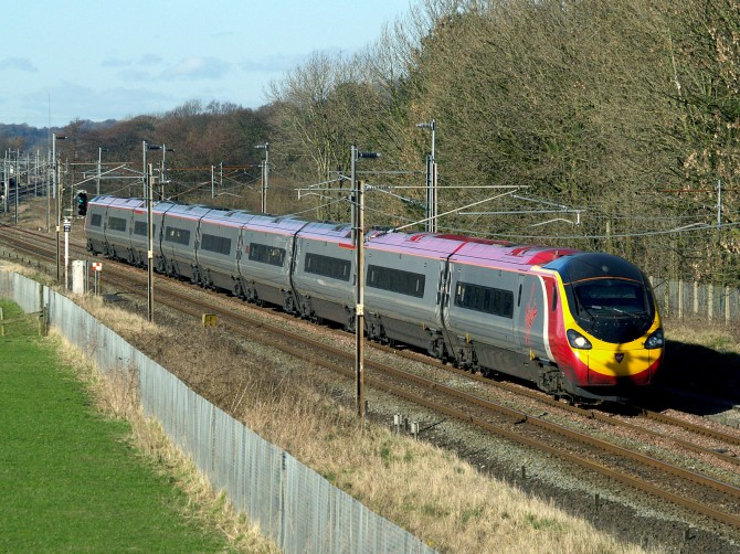 A Virgin Trains Pendolino on the west coast main line (c)Ingy the Wingy on Flickr