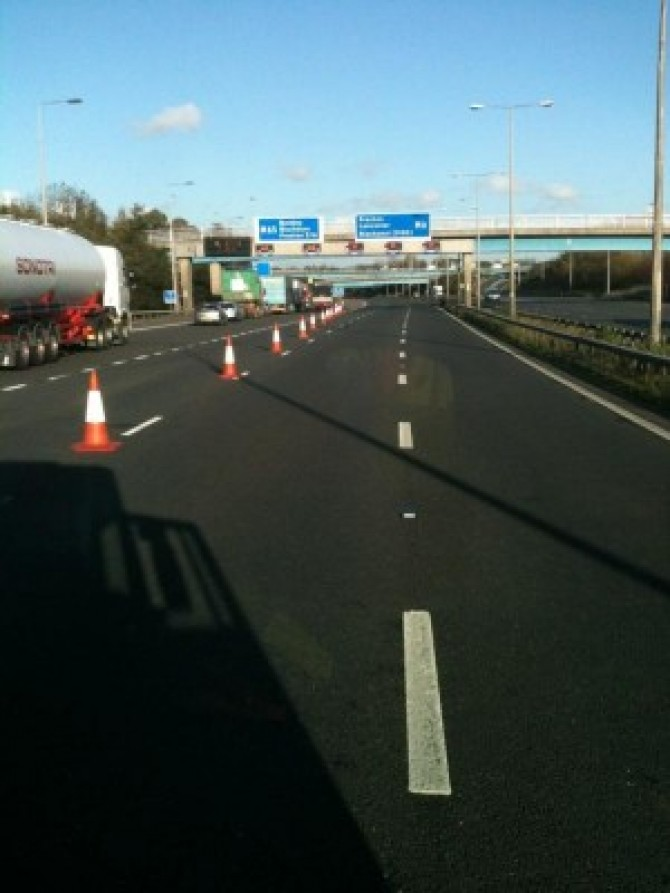 m6 junction 29 closure