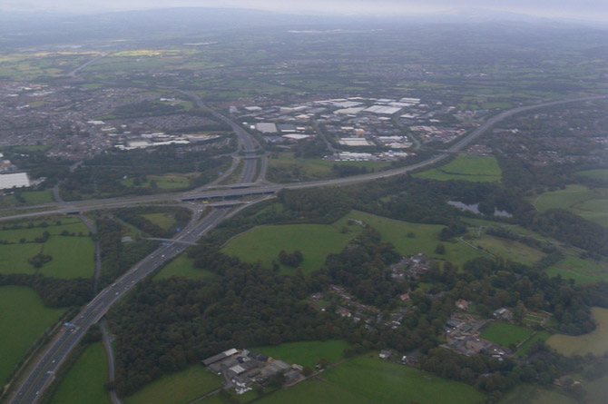 farington m6 from above