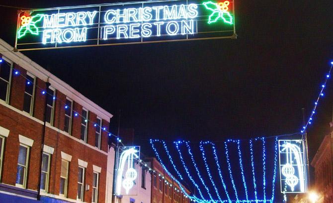 preston christmas lights