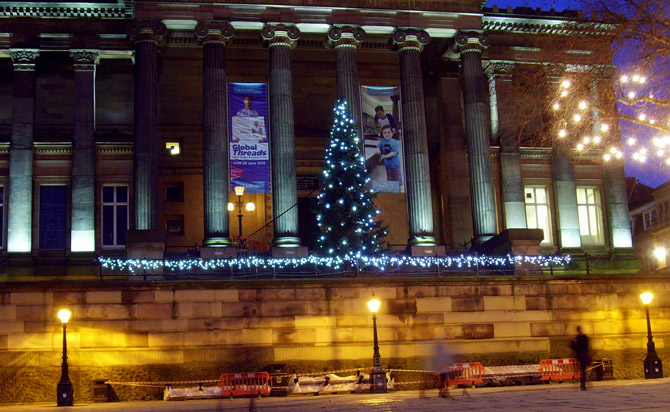 harris museum at christmas