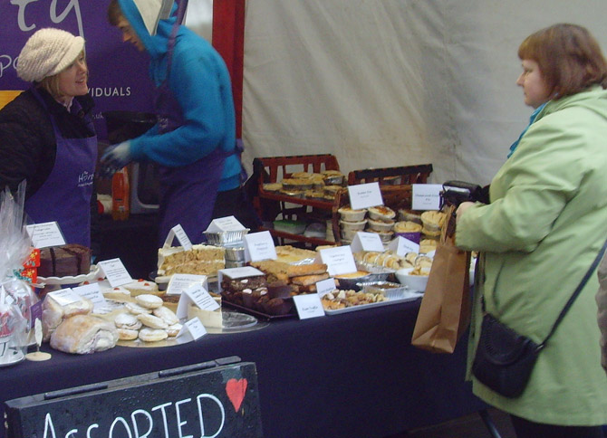 stall at the christmas lancashire market
