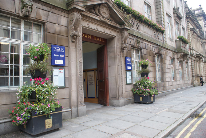 preston town hall entrance