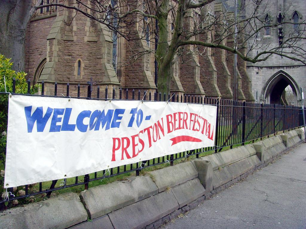 sign outside 2008 Preston Beer Festival