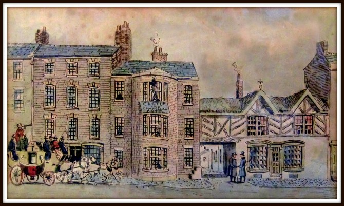The Castle and Commercial Hotel Watercolour by Edwin Beattie