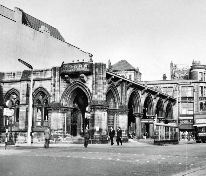 Remains of Preston Town Hall. 1957