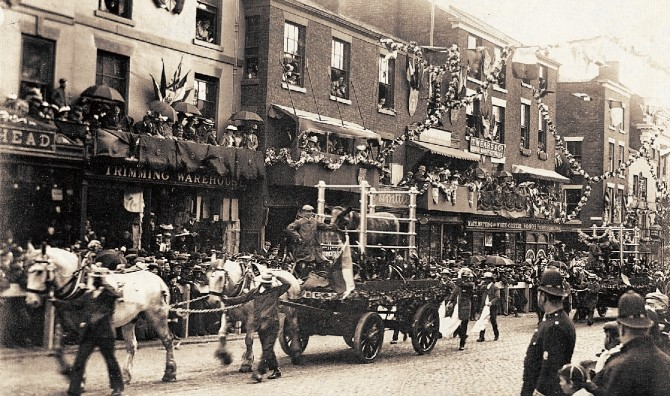 1902 Preston Guild Trades Procession, Fishergate.