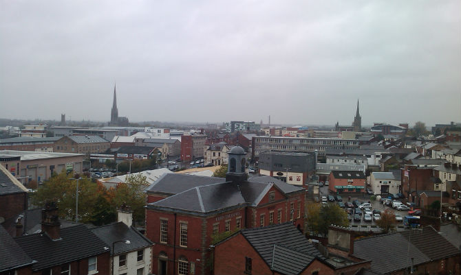 preston city centre view