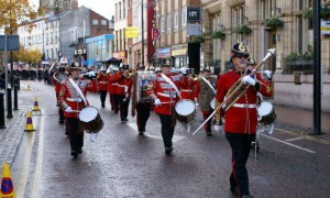 remembrance parade in preston