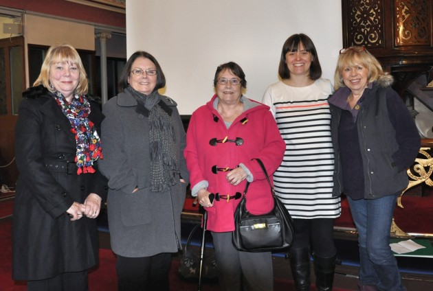 Emma at last year's PHS meeting with some of Will Onda's decendant relatives. Left to right Linda Whiteside, Jennifer Thomas, Carol Dickenson,. Emma Heslewood and Eileen Barker