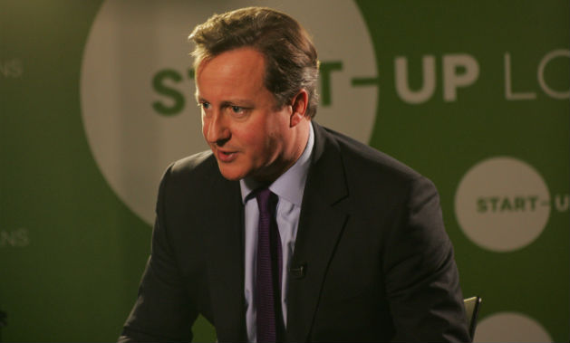 David Cameron delivered his rallying cry to young business people in the city