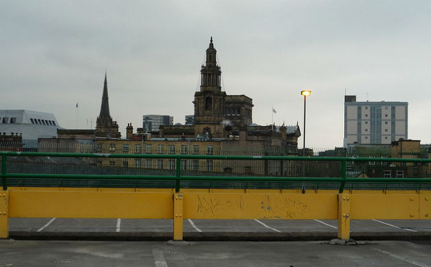 View from the Market car park over the city centre