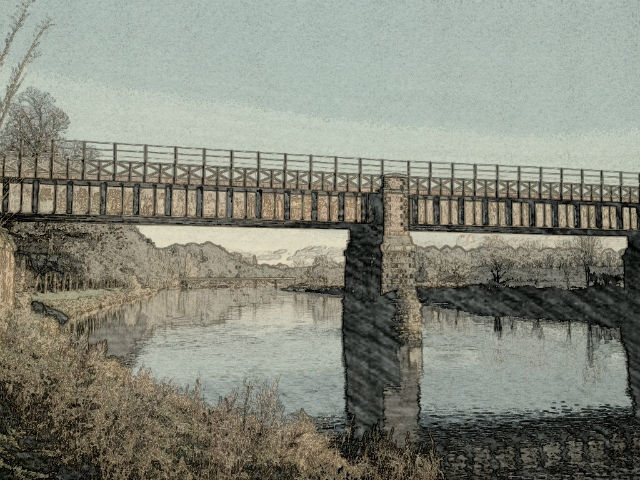 East Lancashire Railway Bridge gets the pastel treatment