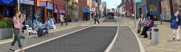 An artists impression of how Fishergate could look in the future