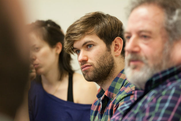Tristan, centre, will play the evil Curley