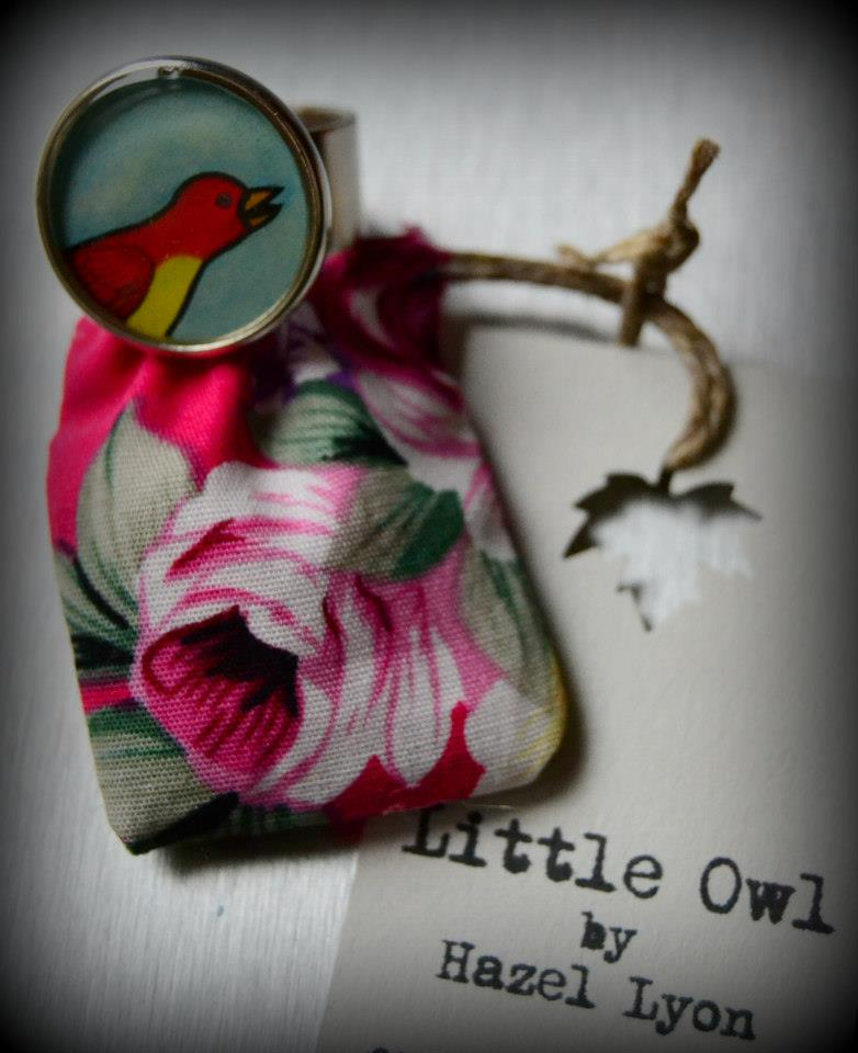 Little Owl ring & bag