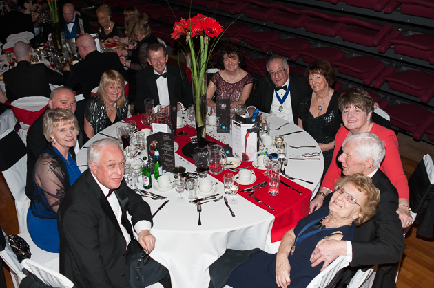 Guests enjoying themselves at the Guild Hall