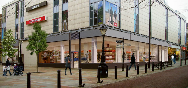 An artists impression of how a supermarket could look if viewed from the Flag Market/Cheapside