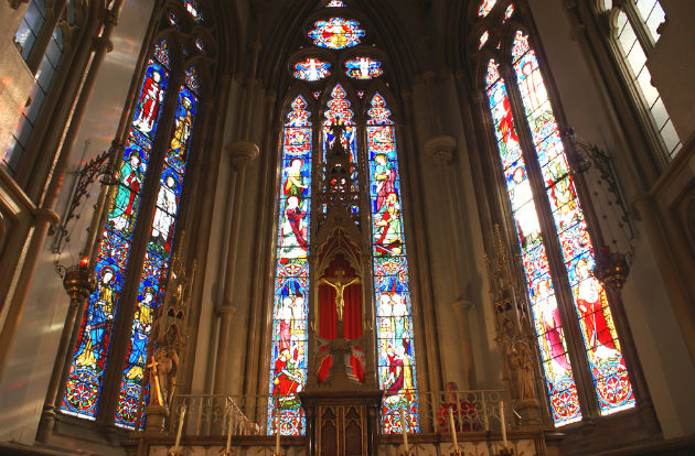 Work is needed to ensure the stained glass windows in St Walburge's are maintained