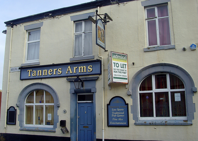The Tanners Arms photographed in January 2013 when the hunt was still ongoing for a new landlord