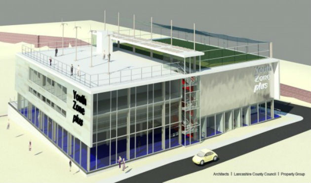 An artists impression of how the Youth Zone+ will look