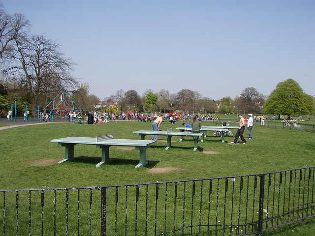 Outdoor table tennis tables in London