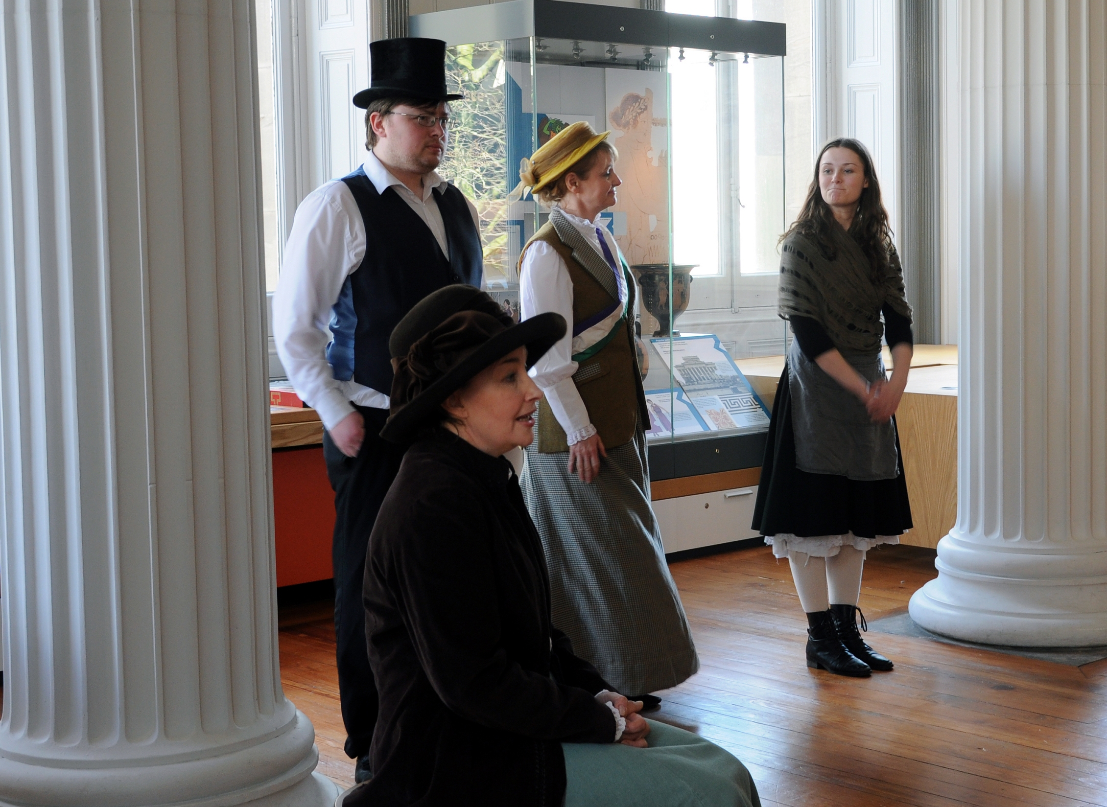 The Actors in Their Roles Performing at the 'Time Explorers' Event