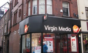 Cleaning up: Virgin Media is helping to remove graffiti