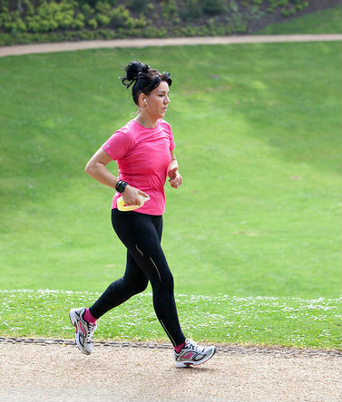 Pita Oates taking part in a parkrun