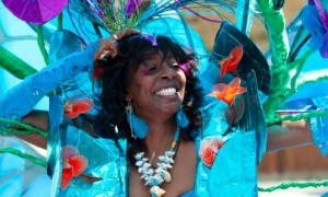 One of the stunning dancers at the Carnival