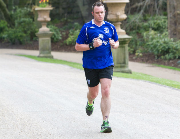 Phil Jones in the zone during a parkrun