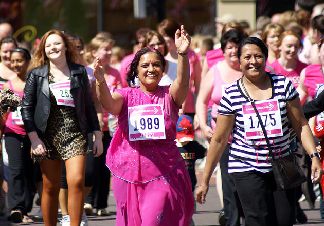 Women taking part in the Race for Life in 2011 i in Preston