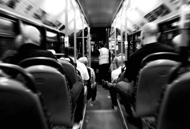 Passengers on a night bus in Preston, evening fares could increase on subsidised services
