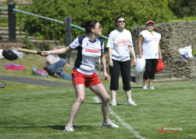 BAE systems staff competing in the rounders