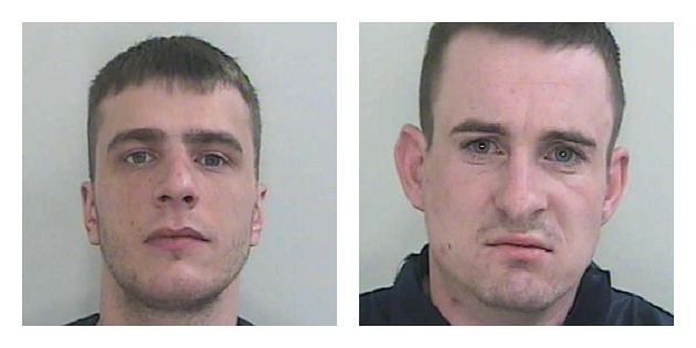 Thomas Green, left and John Kershaw, right, are both wanted by police