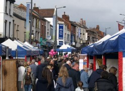 Stalls line Friargate during a previous Lancashire Market
