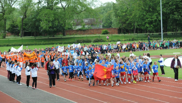 All schools took part in an opening ceremony parade