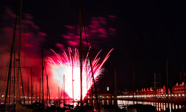 The fireworks on the Saturday evening of the Riversway Festival are always a highlight, lighting up the Docks